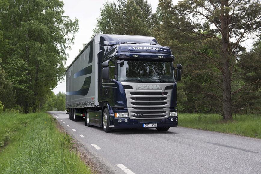 scania, green, truck