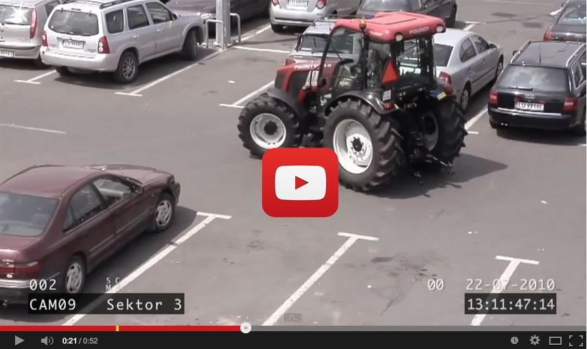 Aparcamiento tractor