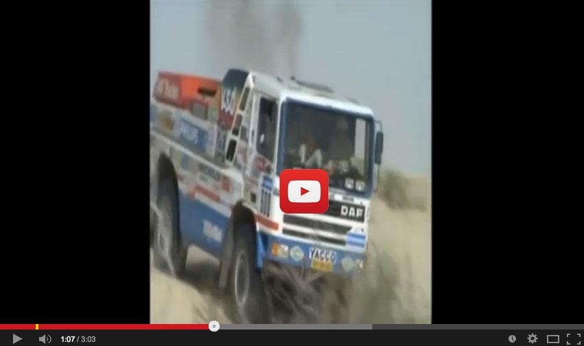 Tributo a Jan de Rooy, el camionero que quiso ganar a los coches en el Dakar
