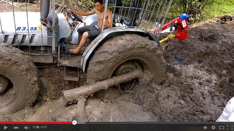 En el fango