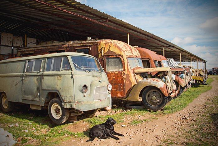 Un Museo De Camiones Clásicos En Madrid
