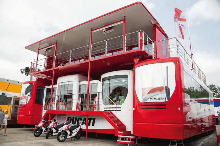 Hospitality Logística MotoGP