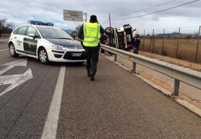 Accidente motorista camión