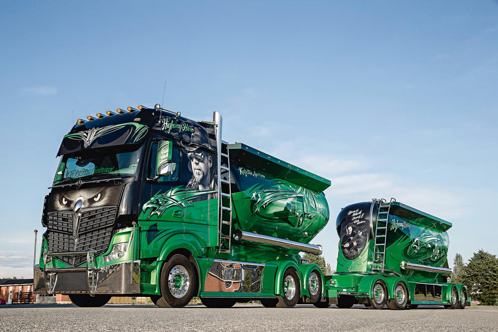Mercedes-Benz Actros decorado