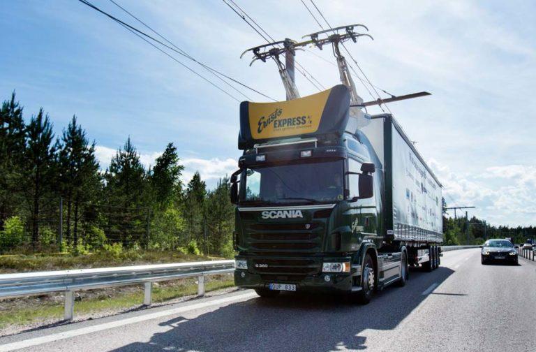 Carretera eléctrica Suecia Scania