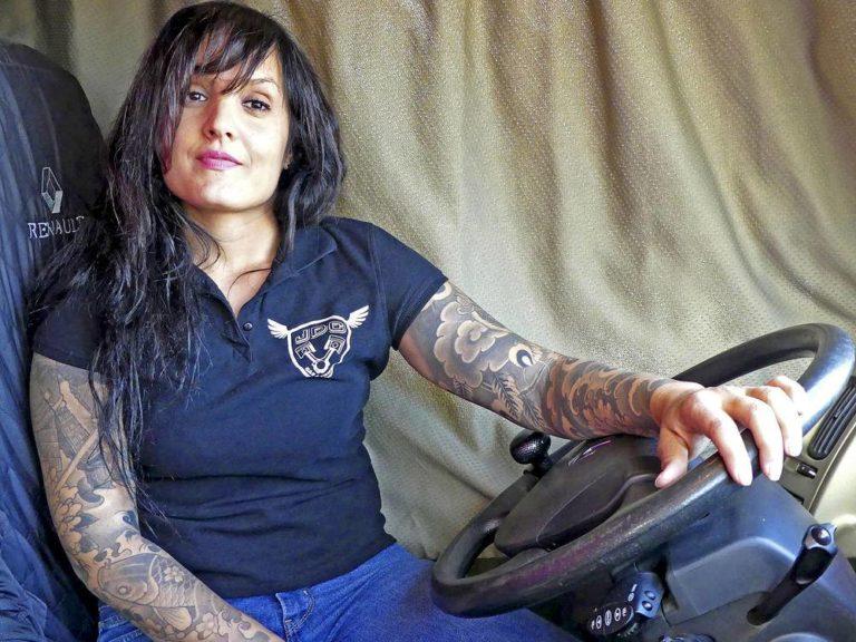 Camionera Cristina Muñoz