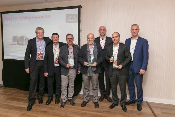 MAN entrega sus Premios Mejores Prácticas de Posventa 2018