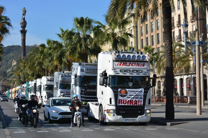 Cotraport y Sintraport ocupan Barcelona