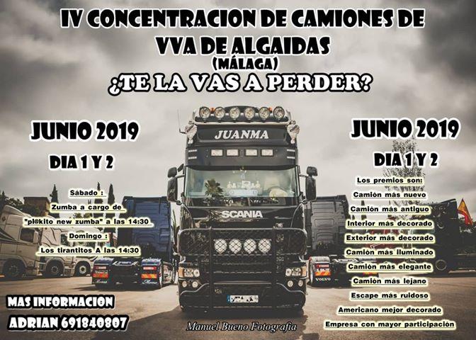 IV Concentración de camiones en Villanueva de Algaidas