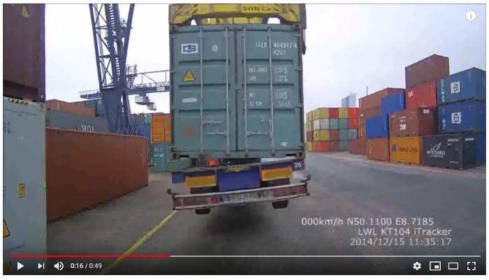 Peligro en la terminal de contenedores