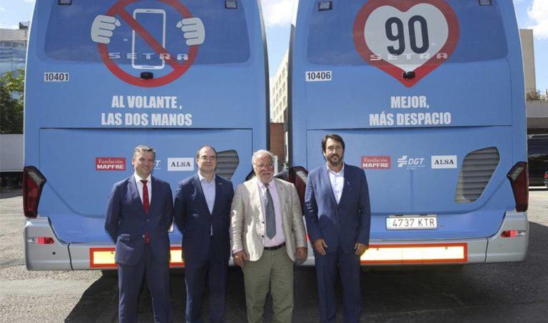 Alsa, DGT y Fundación Mapfre se unen para promover la seguridad vial