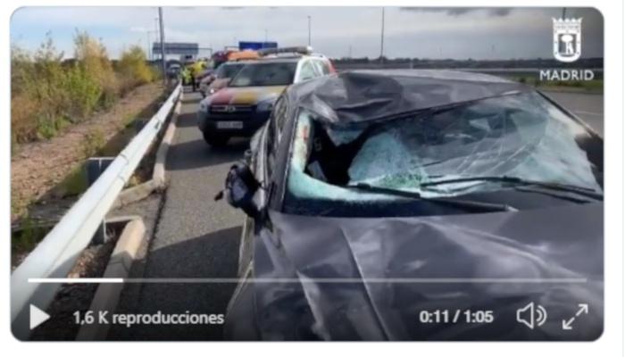 Fallece un camionero atropellado por un turismo en la Radial 3 en Madrid