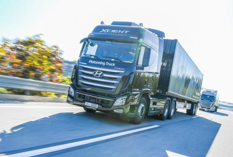 Hyundai acaba con éxito su primera prueba con camiones en caravana