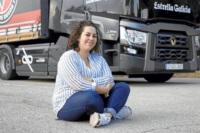 Camionera Estefanía Burgos