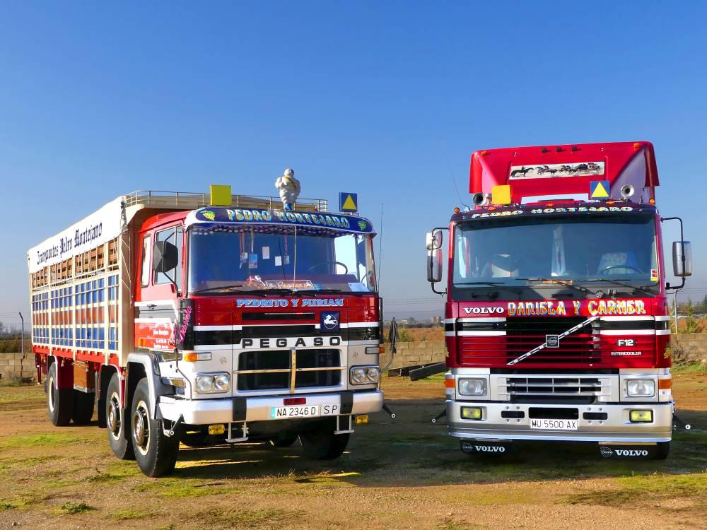 Pegaso 260 y Volvo F12 Montejano
