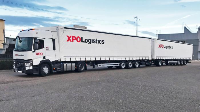 XPO Logistics presenta su primer duotráiler en España