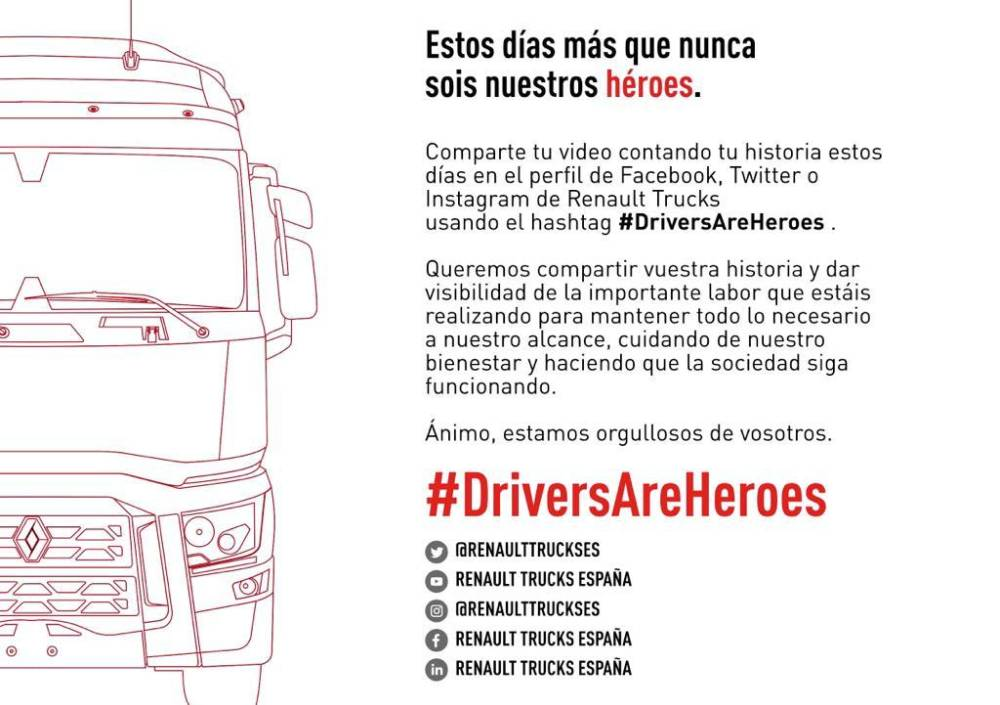Renault Trucks #DriversAreHeroes