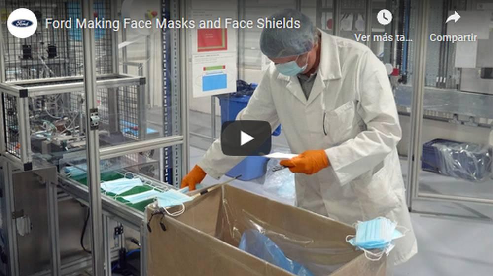 Ford fabrica mascarillas