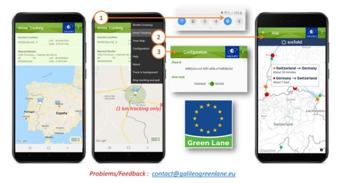 'Galileo Green Lane', la app que te ayudará en los pasos fronterizos