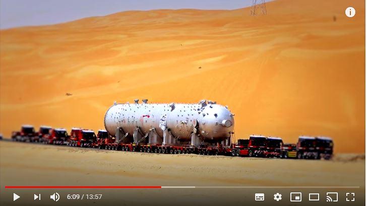 Los transportes especiales más grandes y pesados del mundo