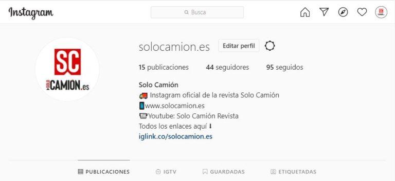 @solocamion.es ya nos puedes encontrar en Instagram