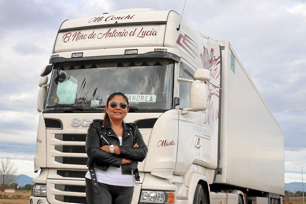 Camionera Andrea Nájera