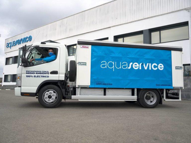 Aquaservice escoge el Fuso eCanter para su reparto urbano