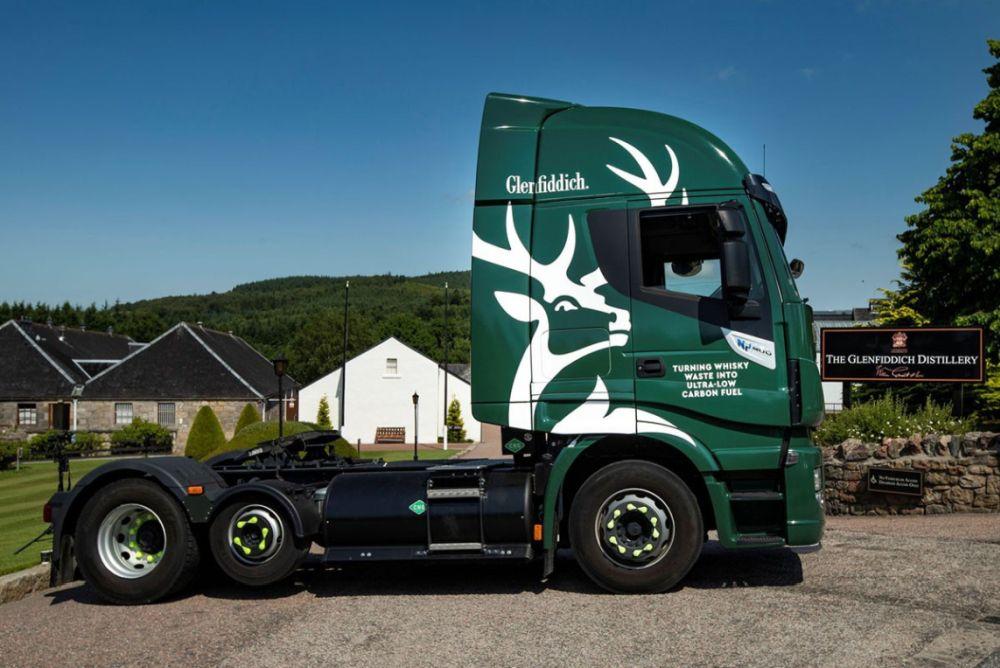Glenfiddich whisky biogás